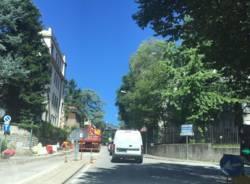 cantiere stradale via metastasio