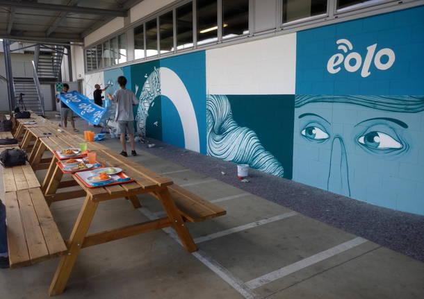 Street art nella sede di Eolo