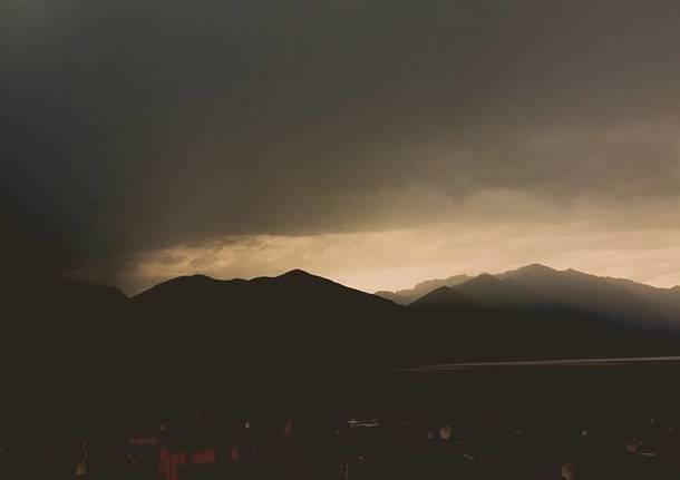 Il cielo che preannuncia il temporale