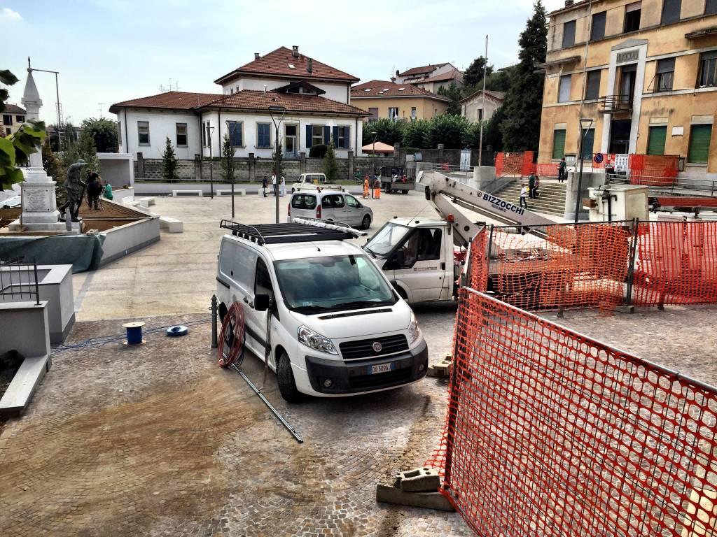 Piazza Galvaligi si prepara ad essere inaugurata