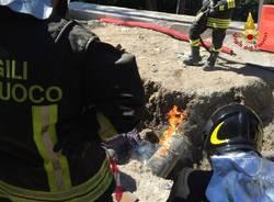 A Cunardo rotto un tubo del gas