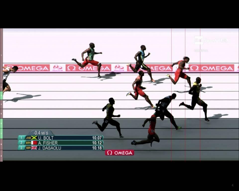 La prima gara sui 100 metri di Usain Bolt a Rio 2016
