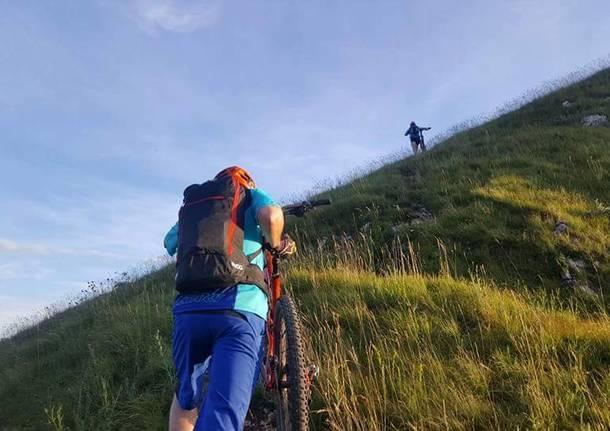 In sella sul Monte Chiusarella