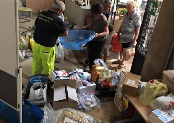 Gli aiuti raccolti a Gallarate