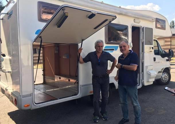 Il camper da Varese ad Amatrice