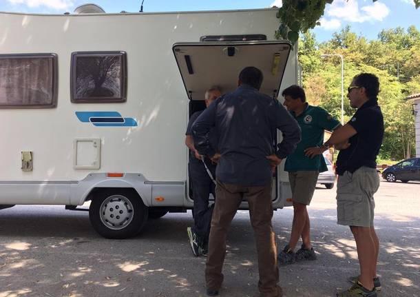 Il camper di Varese ad Amatrice