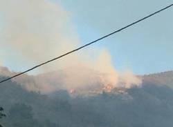 incendio in Liguria