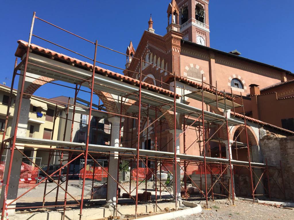 Prende forma il cantiniere per la nuova piazza di Abbiate