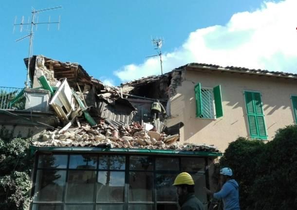 Terremoto di Rieti, le immagini dei Vigili del Fuoco