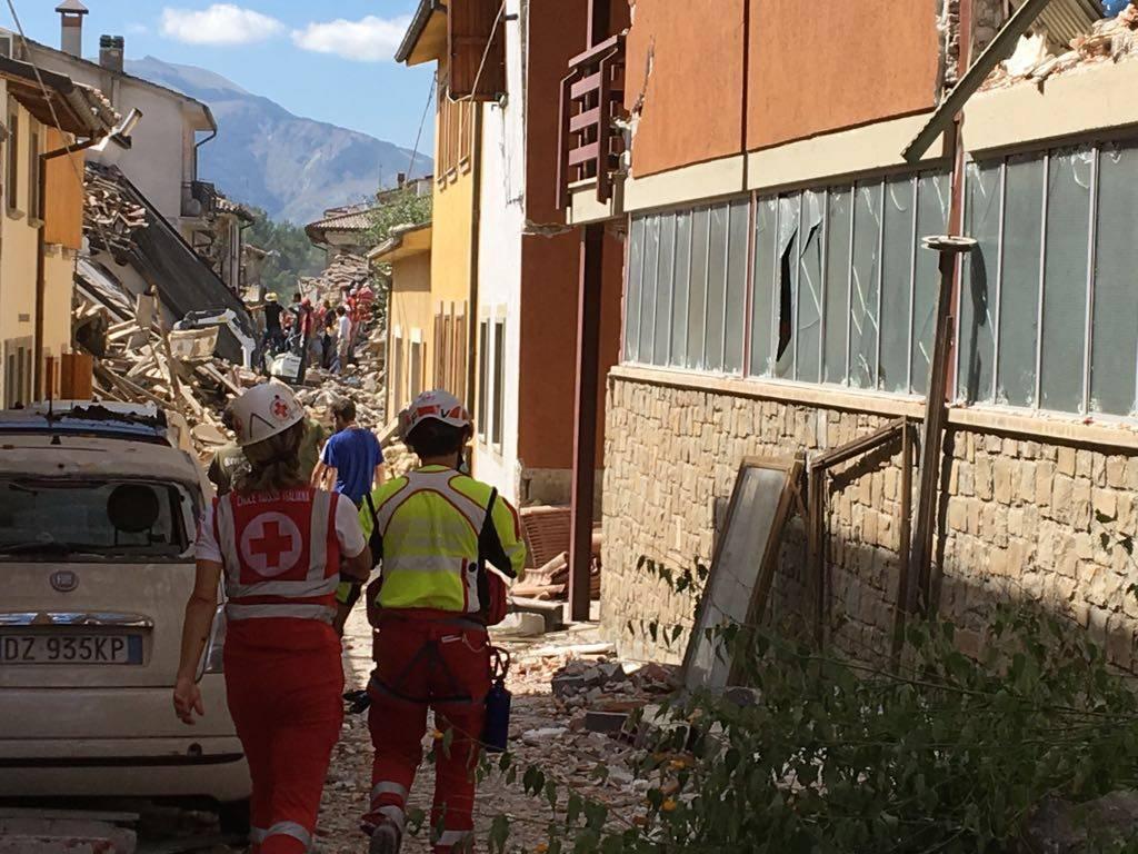 Terremoto a Rieti, le immagini dei Vigili del Fuoco