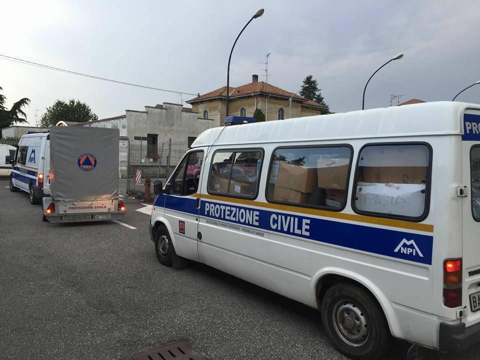 Terremoto, partiti i camion della solidarietà da Tradate