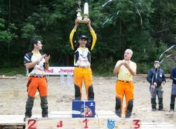 Arcisate - Massimiliano Biemmi campione dei boscaioli