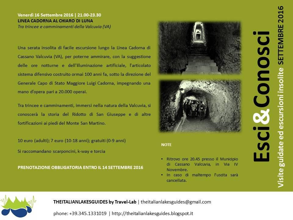 LINEA CADORNA AL CHIARO DI LUNA-Tra trincee e camminamenti della Valcuvia