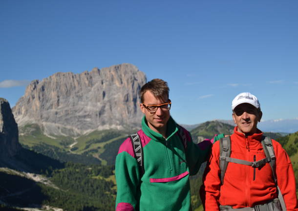 Father and son in Valgardena