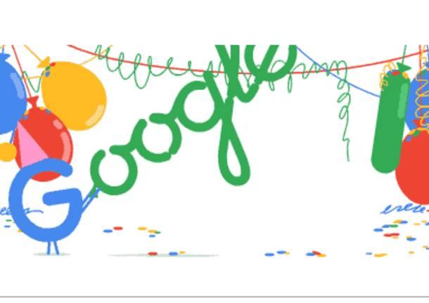 Doodle Google di oggi (27 settembre), dedicato al 18° Compleanno
