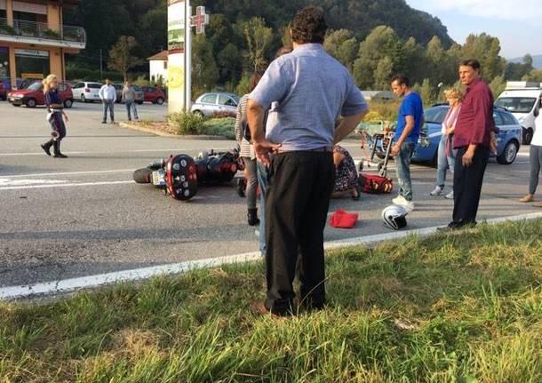 Incidente fra due moto sulla statale della Valcuvia