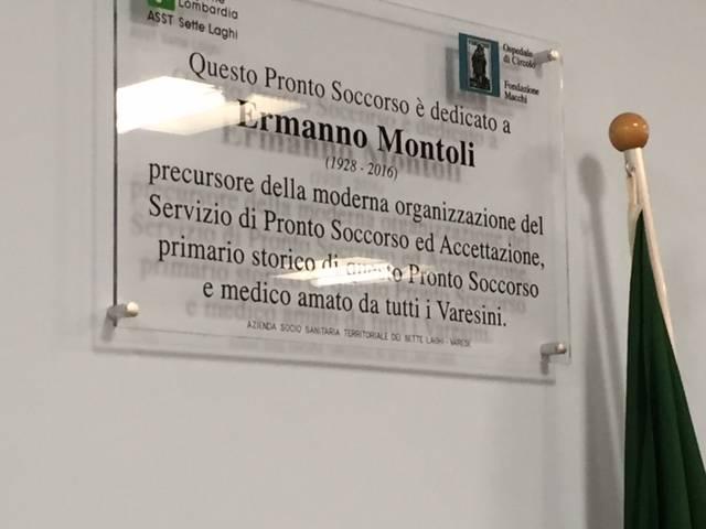 Intitolazione del Pronto soccorso a Ermanno Montoli