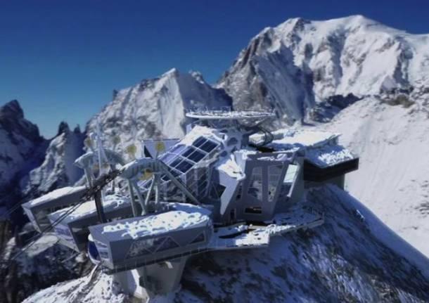 Paura sul Monte Bianco 110 bloccati in cabinovia