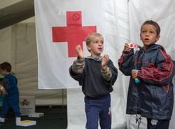 La ludoteca per i bambini terremotati