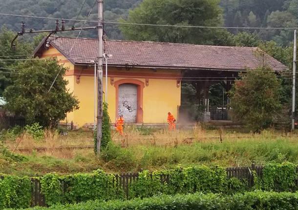 porto ceresio - lavori ferrovia Varese - Porto Ceresio 16 settembre 2016