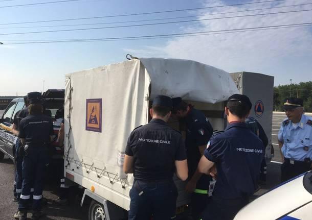 Porto Ceresio - Protezione civile ad Amatrice per terremoto
