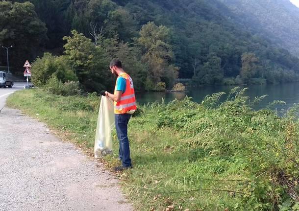 Strade pulite: volontari al lavoro tra Porto e Brusimpiano
