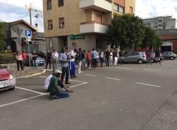 Protesta richiedenti asilo Busto Arsizio