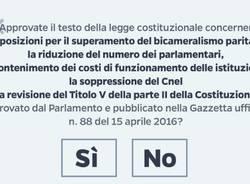 scheda referendum costituzionale 2016