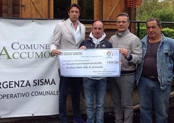 stefano ferrario alessandro albani assegno donazioni accumoli