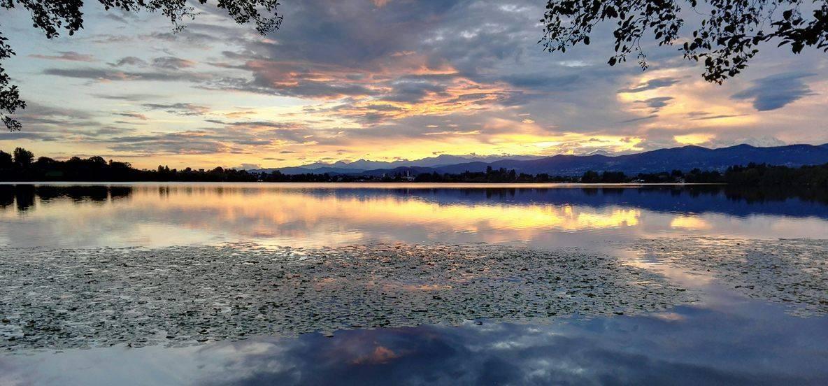 tramonto lago varese monate cairate
