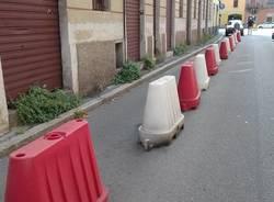 via Mentana marciapiede