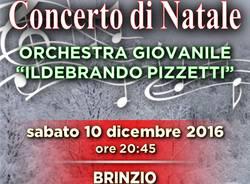 """Concerto di Natale brinziese 2016, con l\'Orchestra giovanile \""""Ildebrando Pizzetti\"""""""