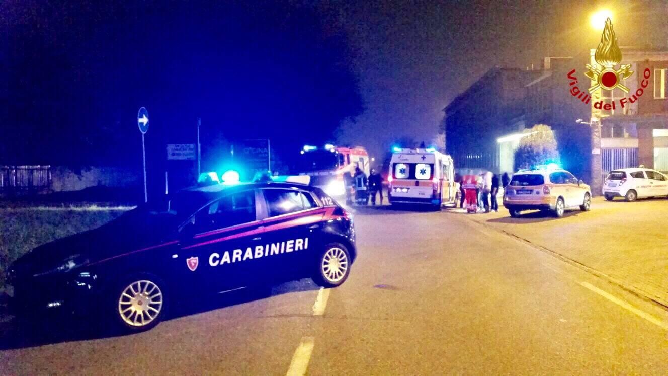 Caronno Pertusella - Incidente stradale via Bergamo