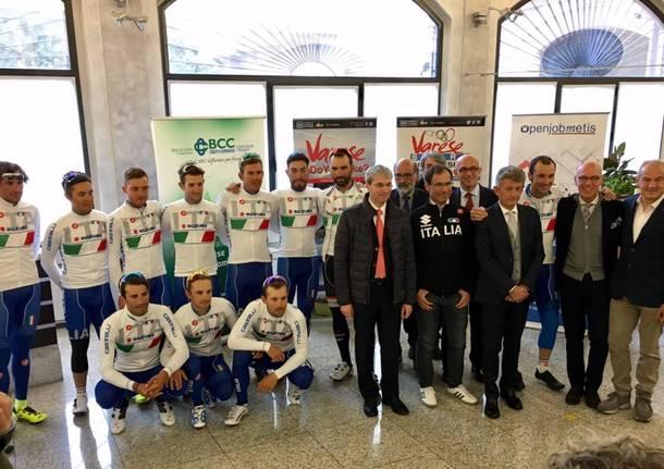 Ciclismo, la Nazionale parte da Varese per il Mondiale 2016