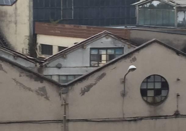 I tetti della Ex Aermacchi