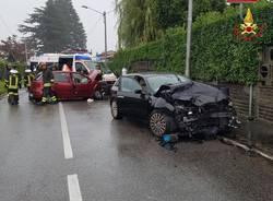 Incidente frontale Cocquio Trevisago Renzo Bossi