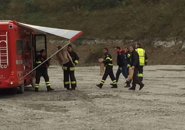 In cava la riproduzione dell'incendio dell'auto di Marisa Maldera