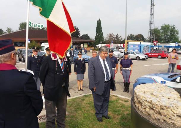 La commemorazione per l'agente Sabrina Pagliarani
