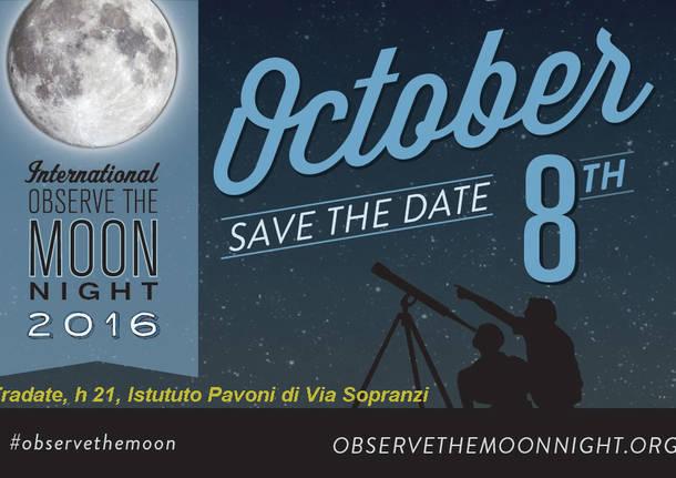 OTTOBRE. Moonwatch party, la NOTTE della LUNA