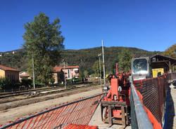 Porto Ceresio - Lavori alla stazione 3 ottobre 2016