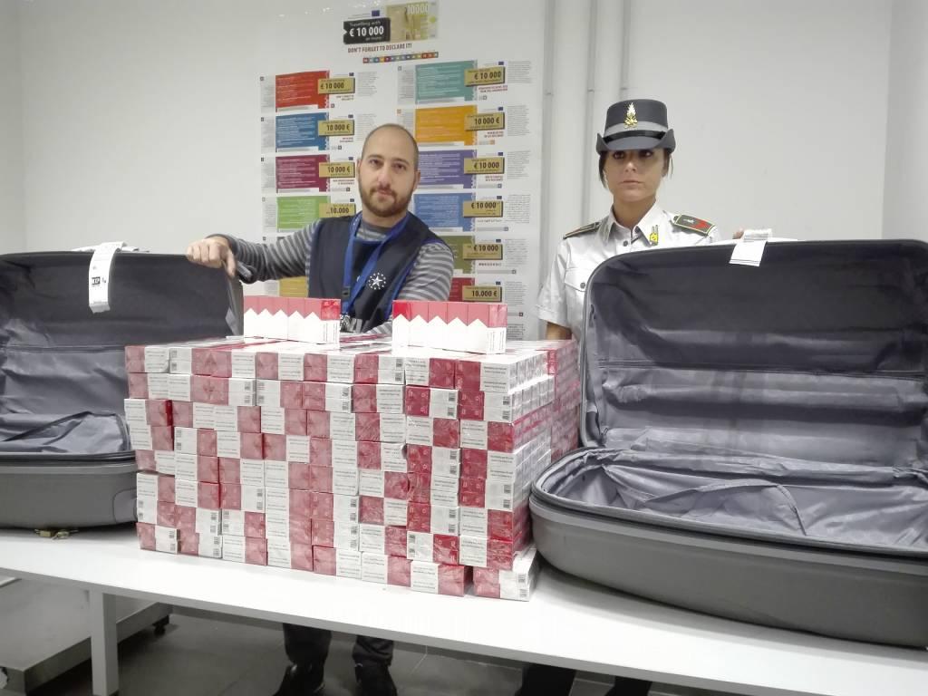 Sigarette di contrabbando a Malpensa