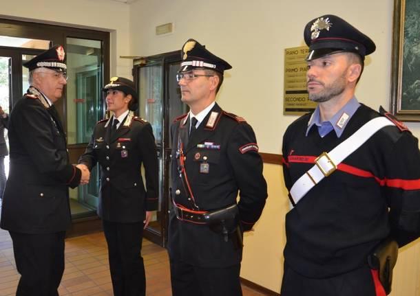 Varese - Il comandante dei Carabinieri Luzi in visita al Comando di Varese