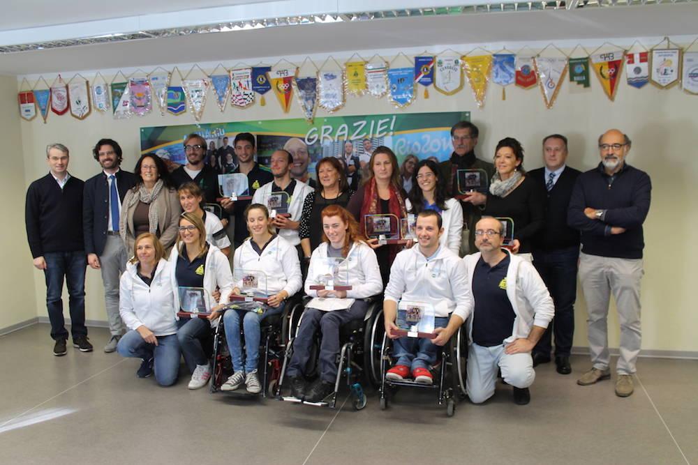 La Polha premia i suoi atleti paralimpici