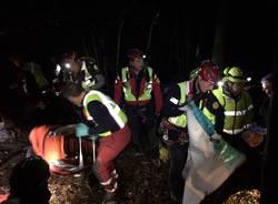 Elicottero caduto - le foto dei soccorsi