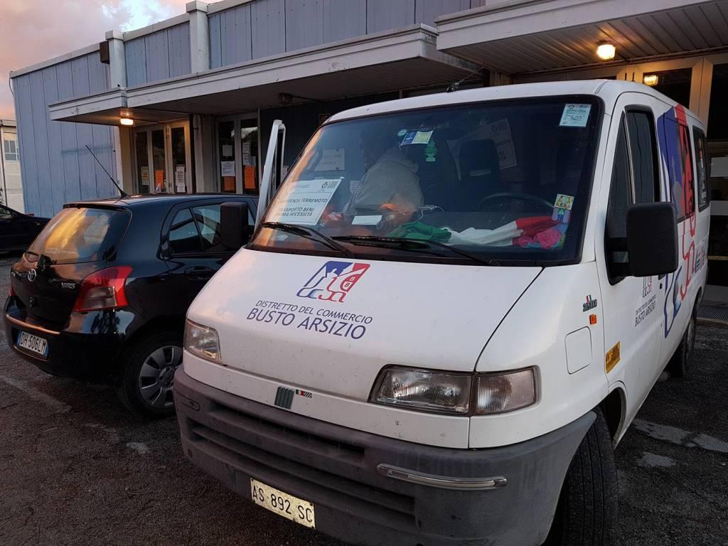 Gli aiuti dei bustocchi ai terremotati di Norcia