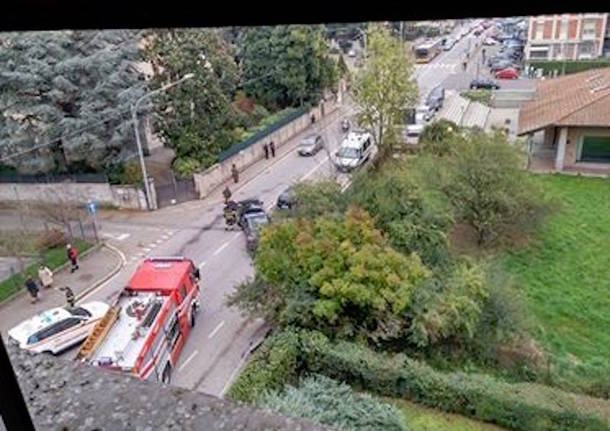 L'incidente in viale Borri