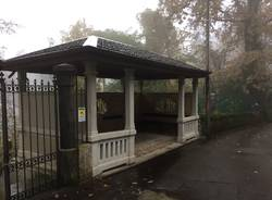 La storica fermata del tram a Velate