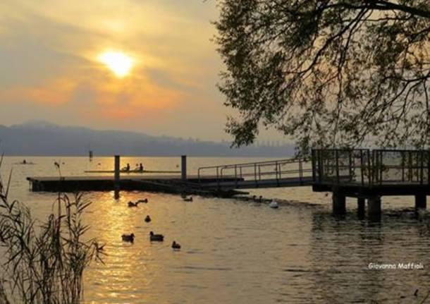 lago di Varese d'inverno