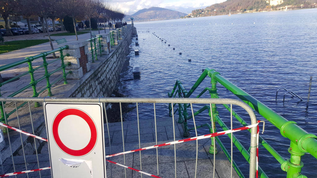 Lago Maggiore Arona livello alto