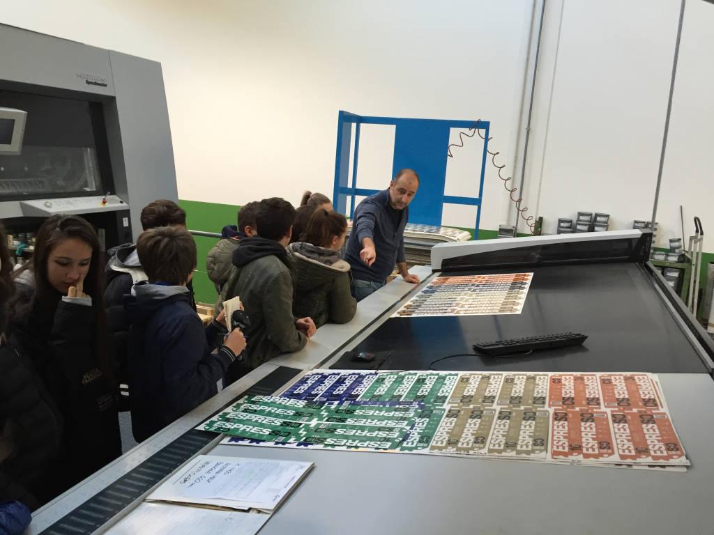 Studenti alla Litocartografica Pigni